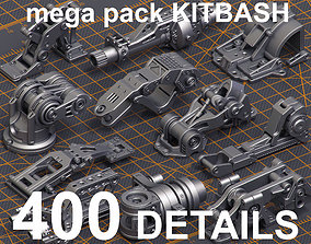 3D model Mega Pack Hard Surface Kitbash 400 DETAILS