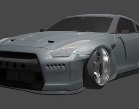 animated Custom 2K17 Nissan GTR 3D Model