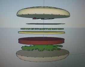 Vegetarian burger 3D printable model