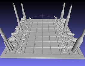 3D print model Space Race Themed Chess Set Game Pieces