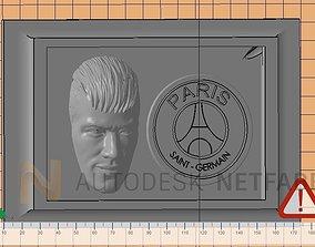 Neymar Jr - Paris Saint Germain - 3D print ready frame 1
