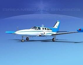Cessna 414 Chancellor V06 3D model