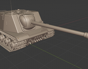 3D printable model ISU 122S USSR Tanks