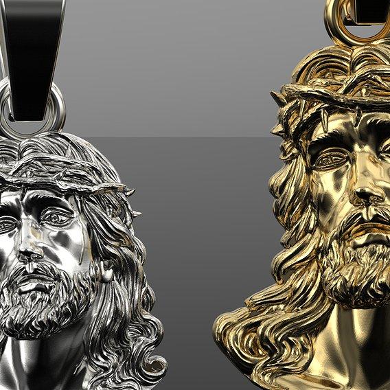 Jesus gold pendant