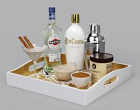 3D model RumChata Cocktail Set