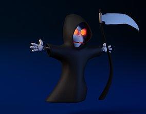 Cartoon Death Not Rigged 3D