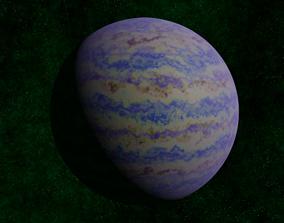3D model Blue gas giant 2