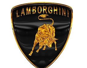 car 3D model Lamborghini logo 2