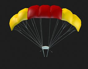 game-ready Parachute 3D model