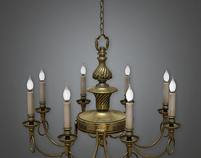 Fake Candle Chandelier Antiques - ATQ - PBR Game 3D model