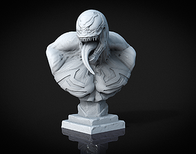 Venom Bust 3D print model marvel