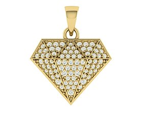 3D print model Diamond Shape Pendant