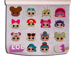 LOL SURPRISE CUTTERS KIT 16 MODELS SUGAR PASTE
