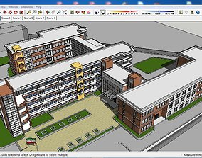3D model Sketchup school G6