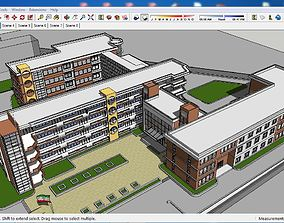 3D model Sketchup school G6