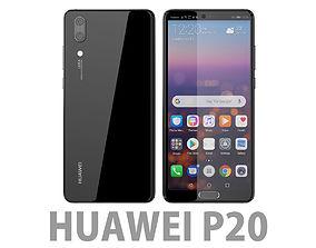 Huawei P20 Black lite 3D model
