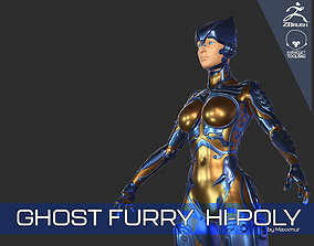 Ghost Furry Sci-Fi Android Cyber 3D model