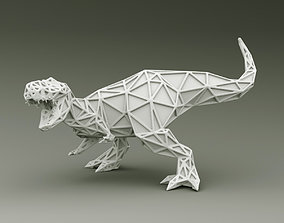3D PRINTED MODEL T-REX-ABSTRACT-DESIGN-POSE art