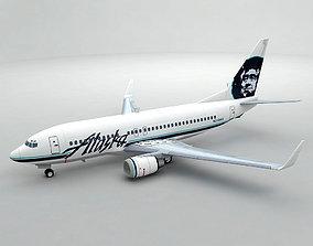 Boeing 737-700 Airliner - Alaska Airlines 3D