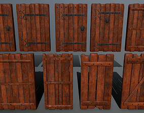 door set 3D asset low-poly