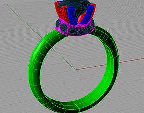 3D print model Solitaire Round diamond Anello 2