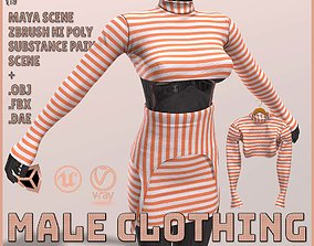 Female Clothing 3D asset game-ready