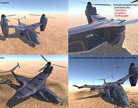 Sci-fi VTOL aircraft 3D asset