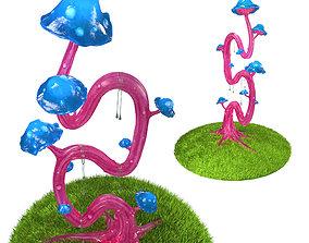 3D asset Cartoon Magic Mushroom