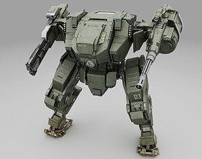 3D model Mech Fighter texture