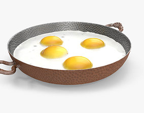 Fried Egg 3D asset