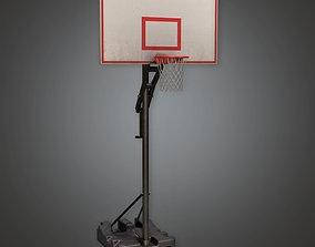 3D asset Basketball Hoop 01a - SAG - PBR Game Ready
