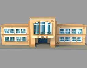 School Building Cartoon 3D model