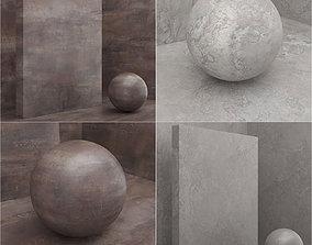 Materials seamless - coating stone plaster 3D model 1