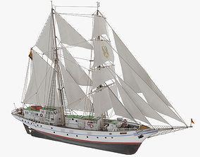 PBR 3D model of brigantine Grief ex Wilhelm