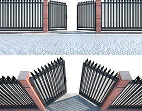 3D model Entrance Gate fence