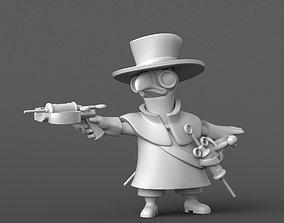 Battle Plague Doctor Figurine 3D Print Model