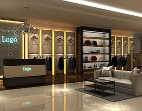 3D model Clothing Store 01