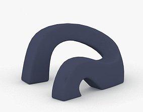0072 - Bean Bag Chair 3D asset low-poly