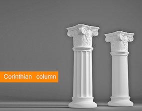 Corinthian column order 3D model