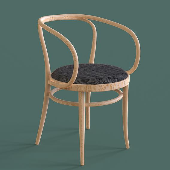 Thonet 209 Chair 3D Model
