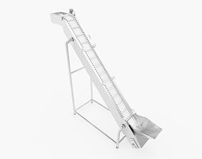 3D asset Plastic Belt Goose neck Elevator