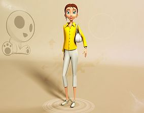 3D Nikkie Stylised Female Character 4