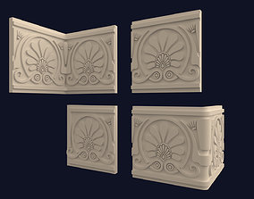 Greek Frieze Border Ornament Pack 3D model