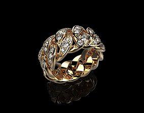 Diamond Cuban Ring 3D print model