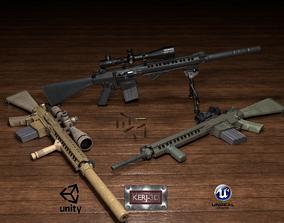 Semi-Automatic Sniper Pack 3D model