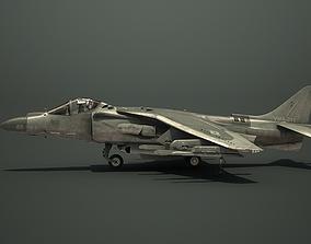 USMC AV-8B Harrier Jet Strike VTOL 3D asset