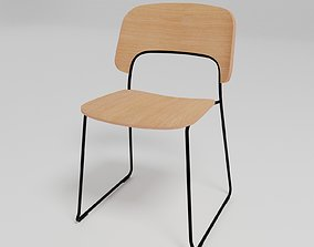 AFI - Sled base stackable chair - 3D