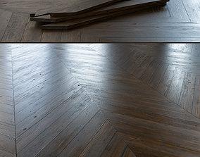 3D model Chevron Rustic Oak Wood Floor 001