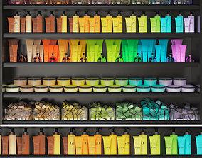 Color cosmetic set for a beauty salon 3D model
