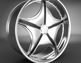 rim tires Wheel Rim 3D model